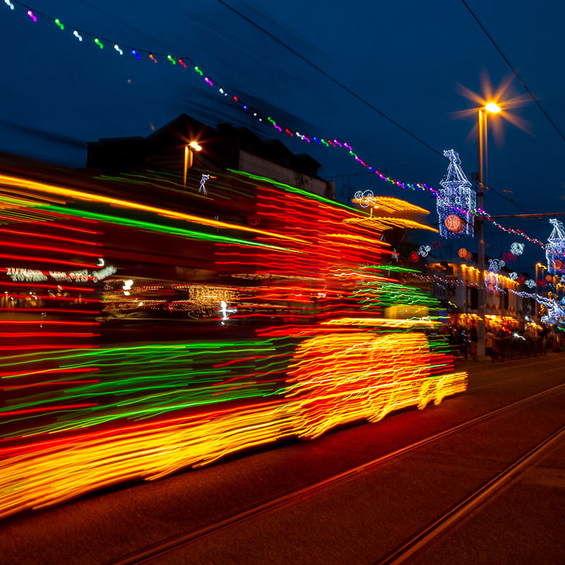 Enjoy a ride through Blackpool's world famous illuminations, but let us do the driving.